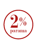 2 procentus mokyklai